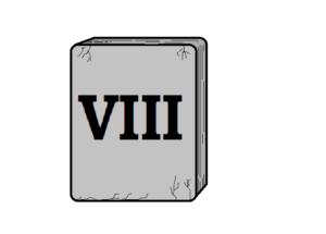 tablica z rzymską cyfrą osiem