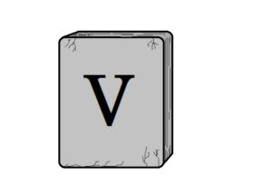 Tablica z rzymską cyfrą 5.